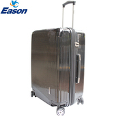 《YC Eason》簡約時尚20吋可加大海關鎖款PC行李箱/登機箱(黑俠客)