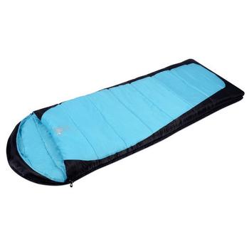 ★結帳現折★APC 秋冬加長加寬可拼接全開式睡袋(雙層七孔棉)(藍黑色)