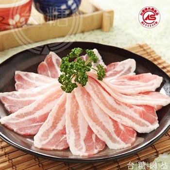 台糖 安心豚白玉五花肉片(200g/盒)