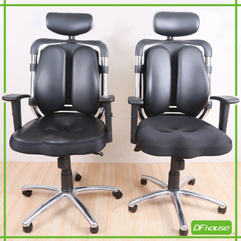 DFhouse 夏卓3D高級雙背電腦椅(3D皮面、網布坐墊)(網布坐墊)