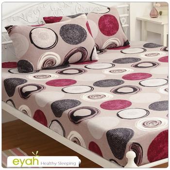 eyah 戀色圓舞-灰。珍珠搖粒絨雙人床包枕套三件組