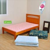 《DFhouse》黛爾夢3尺雙人緹花布透氣床墊(三色可選)(藍色)