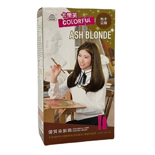《卡樂芙》優質染髮霜 松子亞麻(A劑50g/B劑50g/盒)