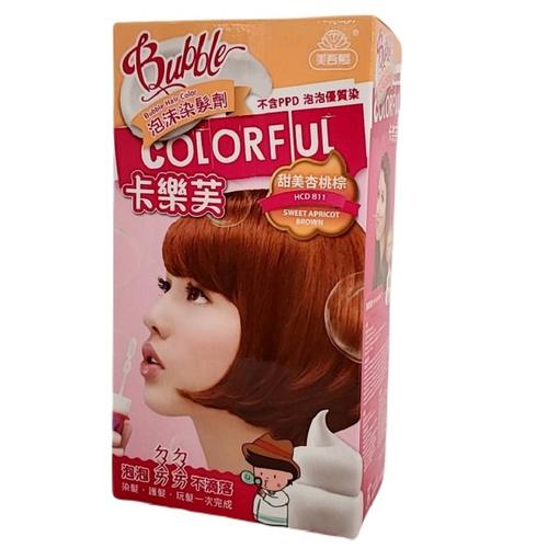 卡樂芙 泡沫染髮劑 甜美杏桃棕(A劑50g/B劑50g/盒)