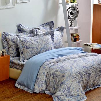 法國Casa Belle 亞緹索菲。雙人四件式長絨棉天絲舖棉兩用被床包組