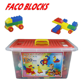 FACO BLOCKS快樂堆高120pcs積木組 (含扣整理箱)