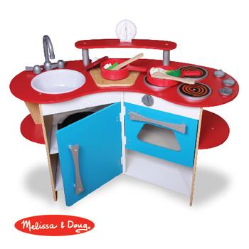 美國瑪莉莎 Melissa & Doug 木製玩食趣 - 小廚師的木製廚房玩具組(DIY)