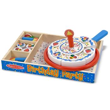 美國瑪莉莎 Melissa & Doug 木製玩食趣 - 生日派對玩具組
