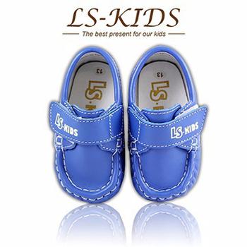 LS-KIDS 手工精緻學步鞋-寶寶雷根鞋系列-海軍藍(13號)