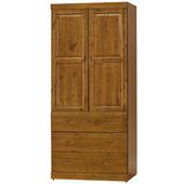 《時尚屋》G15 玉桂實木3x7尺衣櫃106-3