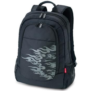 《Genius》GB-1502 隨性簡約商務旅行電腦後背包(黑色)