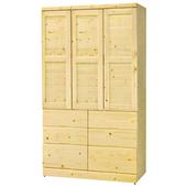 《時尚屋》G15 樂尚松木4x7尺衣櫃104-3