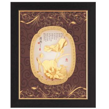鹿港窯 立體金箔畫-荷趣(豐采系列20x25cm)