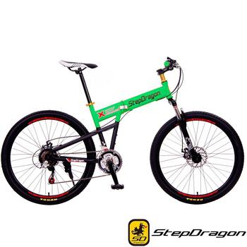 StepDragon SMS-H601 大悍馬 日本Shimano 26吋21速折疊車(狂草綠)
