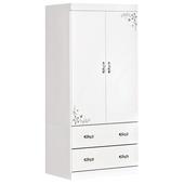 《時尚屋》G15 花語雪白3x6尺衣櫃097-3