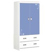 《時尚屋》G15 花語3x6尺衣櫃097-1(淺藍色)