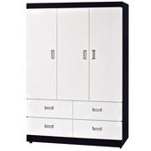 《時尚屋》G15 黑白配4x6尺衣櫃096-1