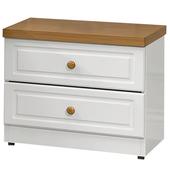 《時尚屋》G15 鄉村風純白床頭櫃023-7