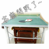 《Sport-gym》輕巧可折疊桌球桌(綠色桌面)