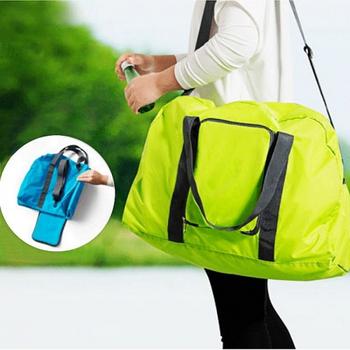 Bunny 旅行包多功能可折疊單肩包旅行袋(草綠色)