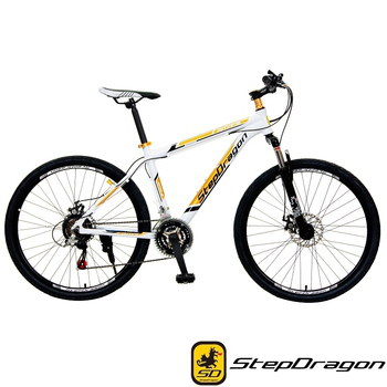 StepDragon SMA-600 悍將 Shimano 26吋21速鋁合金碟煞登山車(白棕)