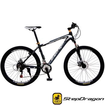 StepDragon SMA-300 拓荒者 Shimano 26吋21速鋁合金碟煞登山車(黑灰)