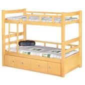 《時尚屋》G15 白楓木3.7尺雙層床071-1不含床墊