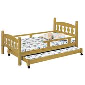 《時尚屋》G15 烏心石3.7尺子母床070-1不含床墊