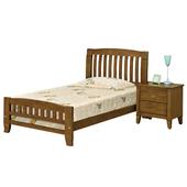 《時尚屋》G15 巴比倫黃檀實木3.5尺加大單人床058-2(床頭+床架)-不含床頭櫃