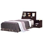 G15 凱特胡桃3.5尺加大單人床051-1+051-2(床頭+床底)
