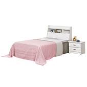 《時尚屋》G15 安東尼烤白色3.5尺加大單人床027-5+027-6(床頭+床底)-不含床頭櫃