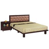 《時尚屋》G15 天王星胡桃色5尺雙人床082-6+082-2(床頭+床架)-不含床頭櫃
