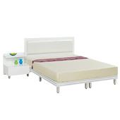 《時尚屋》G15 珍珠純白色5尺雙人床081-9+081-10(床頭+床架)-不含床頭櫃