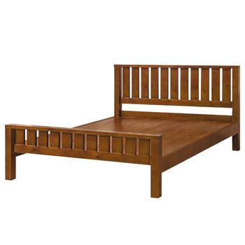 時尚屋 G15 奧斯卡實木樟木色5尺雙人床079-5(床頭+床架)