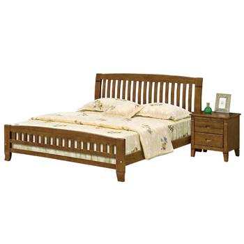 ★結帳現折★《時尚屋》G15 巴比倫黃檀實木5尺雙人床057-1(床頭+床架)-不含床頭櫃