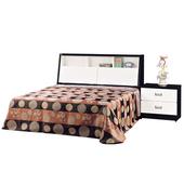 《時尚屋》G15黑白配5尺雙人床035-1+015-2(床頭+床底)-不含床頭櫃