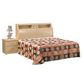 《時尚屋》G15 白橡色金圓滿5尺雙人床033-1+033-2(床頭+床底)-不含床頭櫃