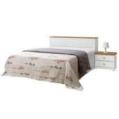 《時尚屋》G15 鄉村風純白5尺雙人床023-6+015-2(床頭+床底)-不含床頭櫃