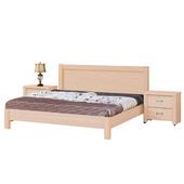 《時尚屋》G15 雅典床片型栓木實木5尺雙人床009-5(床頭+床架)-不含床頭櫃