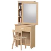 《時尚屋》G15 白橡色金圓滿2尺鏡台034-4(含椅子)