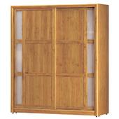 《時尚屋》G15 正赤陽木6尺拉門衣櫃062-1