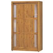 《時尚屋》G15 正赤陽木4尺拉門衣櫃061-8