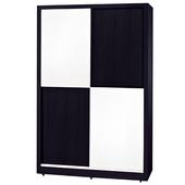 《時尚屋》G15 黑白配4尺推門衣櫃036-2