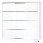 《時尚屋》G15 金沙鋁條6.7尺衣櫃031-1(白)