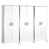 《時尚屋》G15 艾蜜麗亮烤白8尺衣櫃029-1