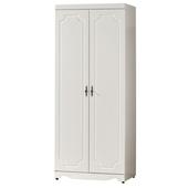 《時尚屋》G15 安東尼烤白色2.7尺雙桿衣櫃028-4