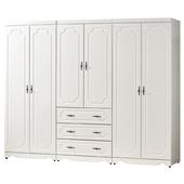 《時尚屋》G15 安東尼烤白色8尺衣櫃028-1