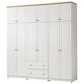 《時尚屋》G15 鄉村風純白7x8尺衣櫃024-1