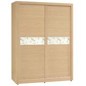 《時尚屋》G15 白橡色金圓滿5尺衣櫃034-3