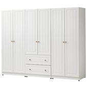 《時尚屋》G15 鄉村風純白7尺衣櫃023-1